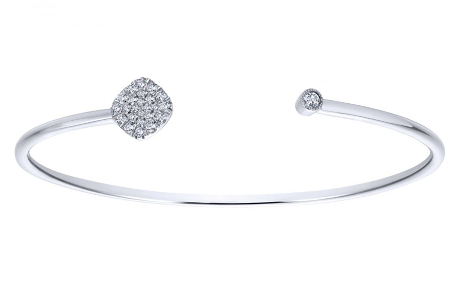 Gabriel & Co. 14k White Gold Diamond Byblos Bangle