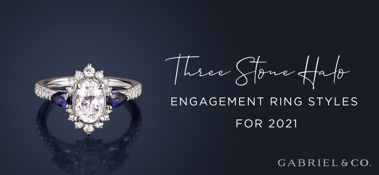 Three Stone Halo Engagement Ring Styles for 2021